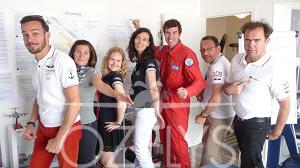 Nos clients et néanmoins partenaires Barnstormer et Aérostar TV. Et Hugues Duval, pilote sur B777 ou sur Fouga selon le moment. © Ozelys