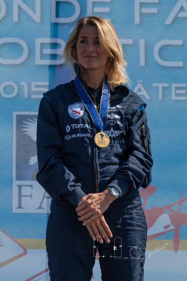 Aude Lemordant conserve son titre de championne du monde féminine et termine 6e au classement général. © Elodie Expert