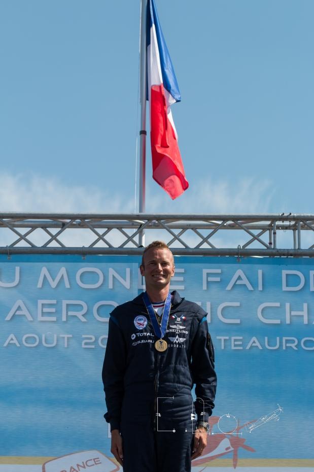 Le capitaine Alexandre Olorwski, champion du monde. © Elodie Expert