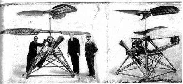 L'appareil exposé en 1909. Source : Centre de Documentation du musée de l'Air et de l'Espace. Revue Pégase.