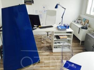 Le bureau de Pascale où il se mitonne de bons projets. Logique, ce fut la cuisine !