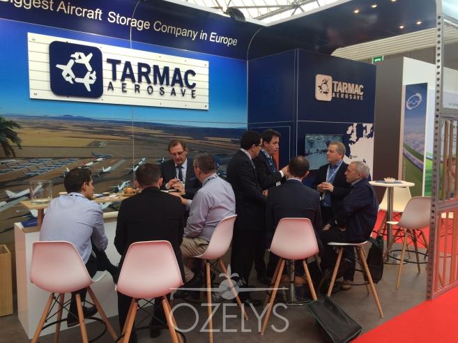 Le stand de Tarmac Aerosave n'a pas désempli © Ozelys